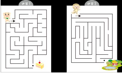 儿童简单迷宫图片,幼儿制作简单迷宫图,简单迷宫,怎样画 简